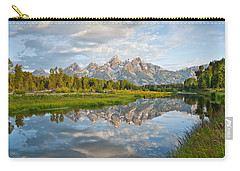 Teton Range Reflected In The Snake River Carry-all Pouch