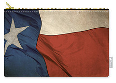 Rustic Texas Flag  Carry-all Pouch by David and Carol Kelly