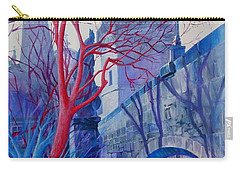 Carry-all Pouch featuring the painting The Charles Bridge Blues by Marina Gnetetsky