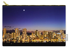 The Moon And Venus Over Honolulu Carry-all Pouch