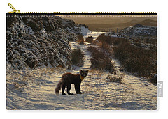 Carry-all Pouch featuring the photograph The Pine Marten's Path by Gavin Macrae