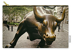The Wall Street Bull Carry-all Pouch by Mountain Dreams