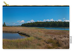 Thompson Island In Maine Panorama Carry-all Pouch by Michael Ver Sprill