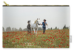 Three At The Poppies' Field... 3 Carry-all Pouch