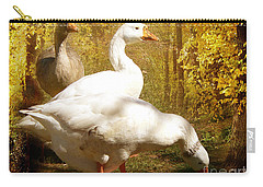 Three Geese A Grazing Carry-all Pouch