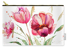Three Tulips Flowers  Carry-all Pouch