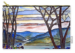 Stained Glass Tiffany Frank Memorial Window Carry-all Pouch by Donna Walsh