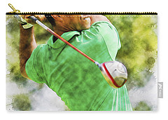 Tiger Woods Hits A Drive  Carry-all Pouch