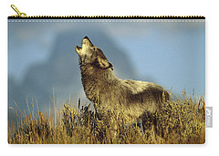 Timber Wolf Howling Idaho Carry-all Pouch