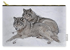 Timber Wolf Pair Carry-all Pouch