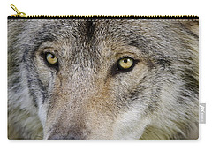Timber Wolf Portrait Carry-all Pouch