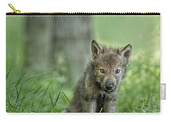 Timber Wolf Pup Carry-all Pouch