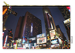 Carry-all Pouch featuring the photograph Times Square Nyc by Rogerio Mariani
