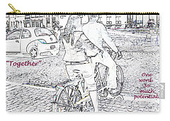 Carry-all Pouch featuring the photograph Together by Rhonda McDougall