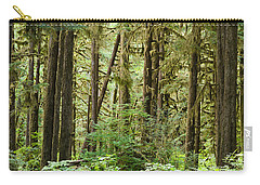 Trees In A Forest, Quinault Rainforest Carry-all Pouch