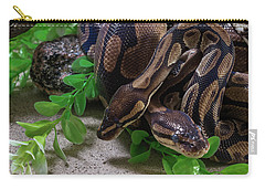 Two Burmese Pythons Python Bivittatus Carry-all Pouch