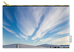 Carry-all Pouch featuring the photograph Under Wyoming Skies by Michael Chatt