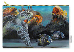 Carry-all Pouch featuring the painting Underwater Beauty by Donna Tuten
