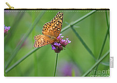 Variegated Fritillary Butterfly In Field Carry-all Pouch