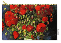 Vase With Red Poppies Carry-all Pouch
