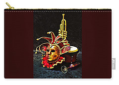 Carry-all Pouch featuring the photograph Venitian Joker 2 by Elf Evans
