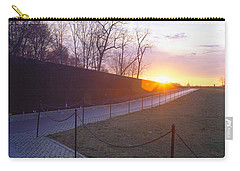 Vietnam Veterans Memorial At Sunrise Carry-all Pouch by Panoramic Images