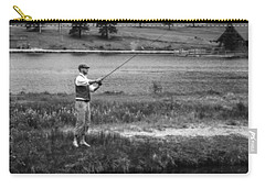 Carry-all Pouch featuring the photograph Vintage Fly Fishing by Ron White