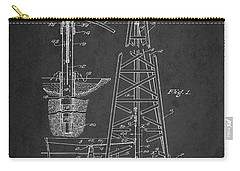 Vintage Oil Drilling Rig Patent From 1911 Carry-all Pouch
