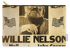 Vintage Willie Nelson 1985 Farm Aid Poster Carry-all Pouch