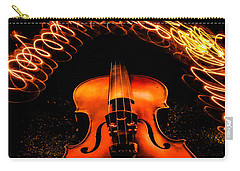 Violin Light Painting Carry-all Pouch