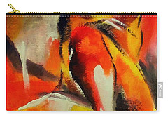 Carry-all Pouch featuring the painting Waiting by Dragica  Micki Fortuna