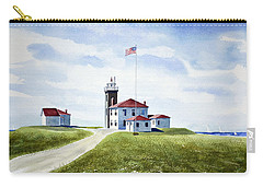 Watch Hill Ri Lighthouse Carry-all Pouch by Joan Hartenstein