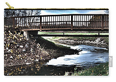 Carry-all Pouch featuring the photograph Water Under The Bridge by Deborah Klubertanz