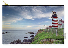 Carry-all Pouch featuring the photograph West Quoddy Head Lighthouse by Alana Ranney