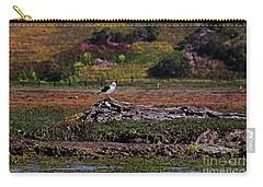 Western Gulls Nesting In A Log Carry-all Pouch by Susan Wiedmann