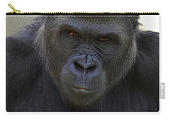 Western Lowland Gorilla Portrait Carry-all Pouch by San Diego Zoo