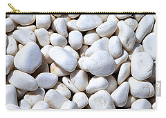 White Pebbles Carry-all Pouch