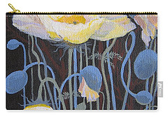 Carry-all Pouch featuring the painting White Poppies by Marina Gnetetsky