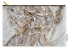 White With Gold Carry-all Pouch