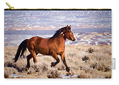 Eagle - Wild Horse Stallion Carry-all Pouch by Nadja Rider