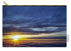 Carry-all Pouch featuring the photograph Winter Dawn Over New England by Greg Reed