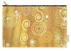 Carry-all Pouch featuring the digital art Winter Dress Detail by Kim Prowse