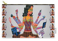 Modern Woman Female Spiritual Inspiration Multitasking Leadership Goddess Background Designs   Carry-all Pouch
