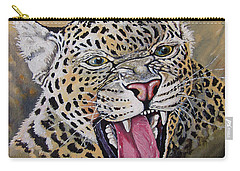 Carry-all Pouch featuring the painting Yawn by Anthony Mwangi