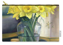 Yellow Daffodils Carry-all Pouch by Marlene Book