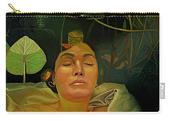 Carry-all Pouch featuring the painting 10 30 A.m. by Thu Nguyen