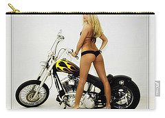 Models And Motorcycles Carry-all Pouch by Walter Herrit