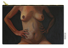 Carry-all Pouch featuring the painting 11 Am by Thu Nguyen