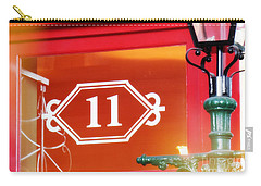 11 With Lamp Post Carry-all Pouch by Valerie Reeves