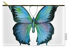 12 Blue Emperor Butterfly Carry-all Pouch